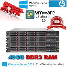 """HP ProLiant DL360 G7 2x6 Core X5675 3.06 GHz 6X8GB 4x146GB 2.5"""" HDD 2X750W P410i"""
