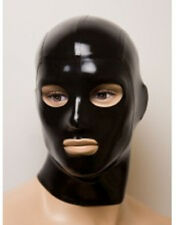 Sexy Black Latex Rubber Party Hood Mask Open Eyes Mouth Club Wear Hot