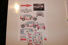 DECALS 1/43 FORD ESCORT WRC COSWORTH DELECOUR RALLYE MONTE CARLO 1999 RALLY
