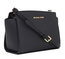 MICHAEL KORS LADIES LEATHER HANDBAG to SHOULDER hand Black  Selma Medium