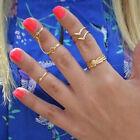 1 Set Fashion Personality Leaf Knuckle Midi Mid Finger Tip Stacking Rings New