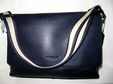 Coach Mens Sullivan Messenger Navy Leather Shoulder Crossbody Bag F71726 $450