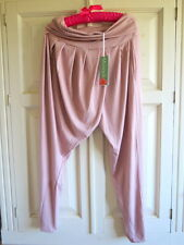 BNWT Manuka Life Long Drape Capri Pants Yoga Pilates Sz L (UK 14) Rose Melange
