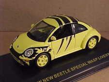 Ixo 1/43 Diecast 2002 New Beetle, Special Yellow and Black Wasp Livery  #MOC007