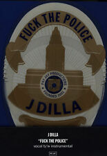 """J Dilla - F The Police 7"""" Badge-shaped Picture Disc  Vinyl RSD 2015 NEW"""