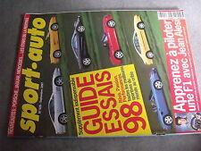 $$q Revue sport auto N°428 Jean Alesi  50ans Ferrari  GP Allemagne  GP Hongrie