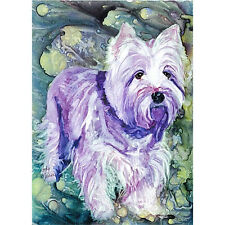 """Rainbow Card Co."" Greeting Card - Winston (Westie) - #100W"