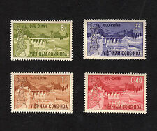 1964 RVN South Vietnam Full Set 4 Stamps Inauguration Danhim Hydro-Electric MNH