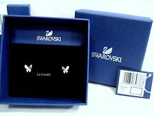 Swarovski Better Butterfly Pierced Earrings, Crystal Authentic MIB - 5074336