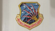 OLD VINTAGE EMBROIDERED PATCH AIR FORCE COMMUNICATIONS SERVICE MILITARY