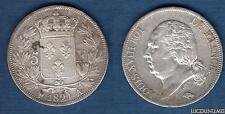 Louis XVIII 1815 - 1824 , 5 Francs Buste nu 1821 A Paris (2) TB +