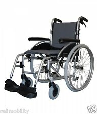 Roma Medical Orbit 1300 Lightweight Aluminium Self Propelled Wheelchair Padded