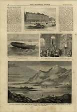 1875 Safety Boat Conveying Gunpowder Duncan Sherman Bank Failure Disco Island
