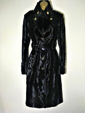 KAREN MILLEN BLACK PONY FAUX FUR DRESS COAT SIZE 8