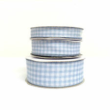 Gingham Ribbon Check Woven Two Sided - 10mm / 15mm / 26mm Widths - 10 Metre Reel