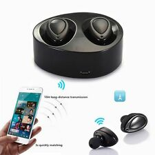 True Wireless Bluetooth Stereo Headset In-Ear Earphones Earbuds Mini TWS Twins