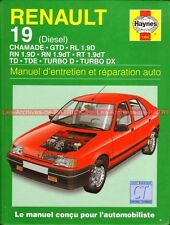 RENAULT 19 Diesel Chamade GTD RL 1.9 RN RT TD TDE TURBO DX Revue Technique Auto