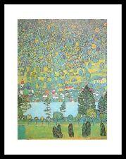 Gustav Klimt Unterach am Attersee Poster Bild Kunstdruck im Alu Rahmen 40x50cm