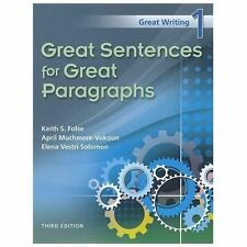 Great Sentences for Great Paragraphs by Keith S. Folse, April Muchmore-Vokoun...