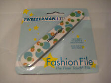 Tweezerman Fashion File - Two-Sided - Blue and Tan Circles