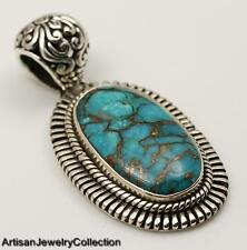 BLUE COPPER TURQUOISE & 925 STERLING SILVER JEWELRY  Y947A