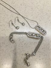 Brighton Kiss & Tell, Necklace, Bracelet And Earrings, EUC, With Brighton Pouch