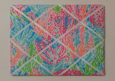 New Memo board made with Lilly Pulitzer 2014 Lets Cha Cha for Garnet Hill fabric