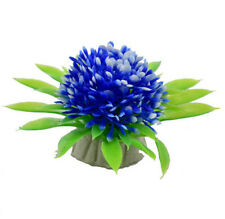 FD3798 Artificial Grass Ball Fish Tank Aquatic Simulation Plant Ornament Blue ☆