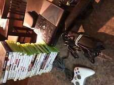 XBOX 360 SUPER SLIM BLACKCONSOLE SYSTEM - 500gb - WITH KINECT AND 24 GAMES
