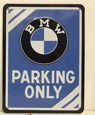 BMW Parking Only Embossed Metal Sign Home Decor Garage Pub Studio Workshop