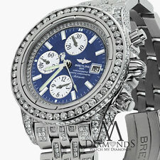 BREITLING MEN'S EVOLUTION WATCH WITH CUSTOM ADDED 15CT OF GENUINE DIAMONDS