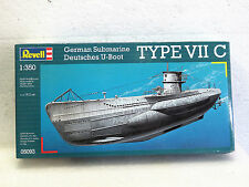 REVELL model kit GERMAN SUBMARINE U-BOOT TYPE VII C 1:350 #05093 New in box