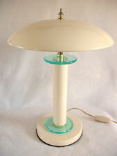 DESK TABLE LAMP W/Dome/Saucer/Mushroom Shaped Shade - 1 Light Works- For Repair
