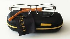 Oga Morel Eyeglasses 6972O Brown Orange MM022 Frame Men Aviator Spring Arm Frame
