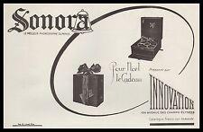 Publicité Gramophone Phonographe SONORA  photo vintage print  ad  1924 - 2h