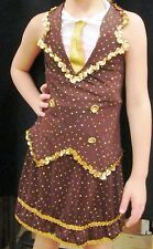 GIRLS Military-Style 2-piece Dance Costume Brown with Hat Size CHILD LARGE