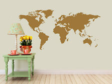 Detailed World Map Decal | Vinyl Wall Sticker