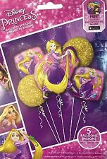Disney Princess Rapunzel Tangled Birthday Party Favor 5CT Foil Balloons Bouquet