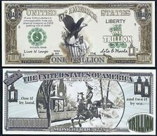 Lot of 25 Bills - Black Eagle with Paul Revere Trillion Dollar Bill