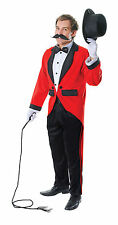 Deluxe Ringmaster Lion Tamer Circus Mens Fancy Dress Costume M-L P7894