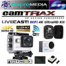 CamTRAX 4K HD WiFi Action Cam w/ Waterproof Case/Mount Bundle Compare GoPro