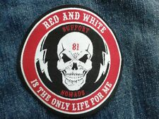Hells Suport NOMADS 81 BADGE/Patch Angels/Outlaw Iron-Sew On 81 Patch 1% er