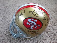 Joe Montana and Dwight Clark signed Mini Helmet WITH SKETCH PSA DNA Full Letter