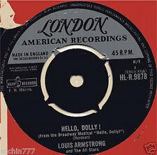 "Louis Armstrong and the All Stars Hello Dolly 7""45rpm vinyl 1964ep record (fair)"