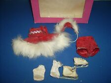 Vintage Vogue Ginny doll clothes red outfit #50 1953 Ice Skater w box & skates