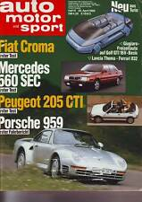 ams 9/86 Porsche 959/Mercedes 560 SEC/Audi 90 Treser Hunter Quattro/ 26.4.1986