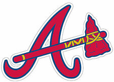Atlanta Braves Sticker/Decal 3x4 Free Shipping Baseball, MLB A5