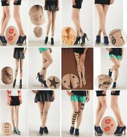 Valentines Sexy Womens Tattoo Pattern Sheer Pantyhose Tights Stockings