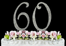NEW Large Rhinestone  NUMBER (60) Cake Topper 60th Birthday Party Anniversary