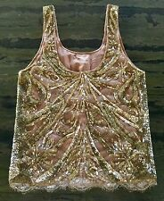 *EMILIO PUCCI* Gold Sequin Embellished Tulle Showpiece Top NWT IT 40- STEAL!!!